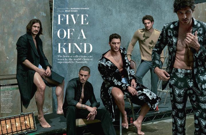五大男模齐聚《GQ》澳大利亚版9月号