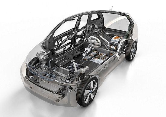 bmw i3电动车构造图高清图片