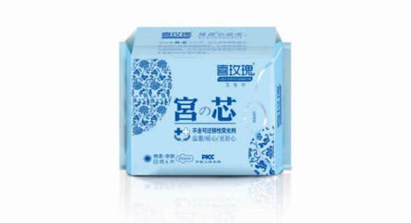 痛经女性首选卫生巾:喜玫瑰宫芯卫生巾